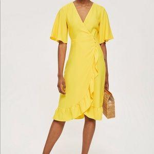 TOPSHOP midi wrap dress SIZE 2